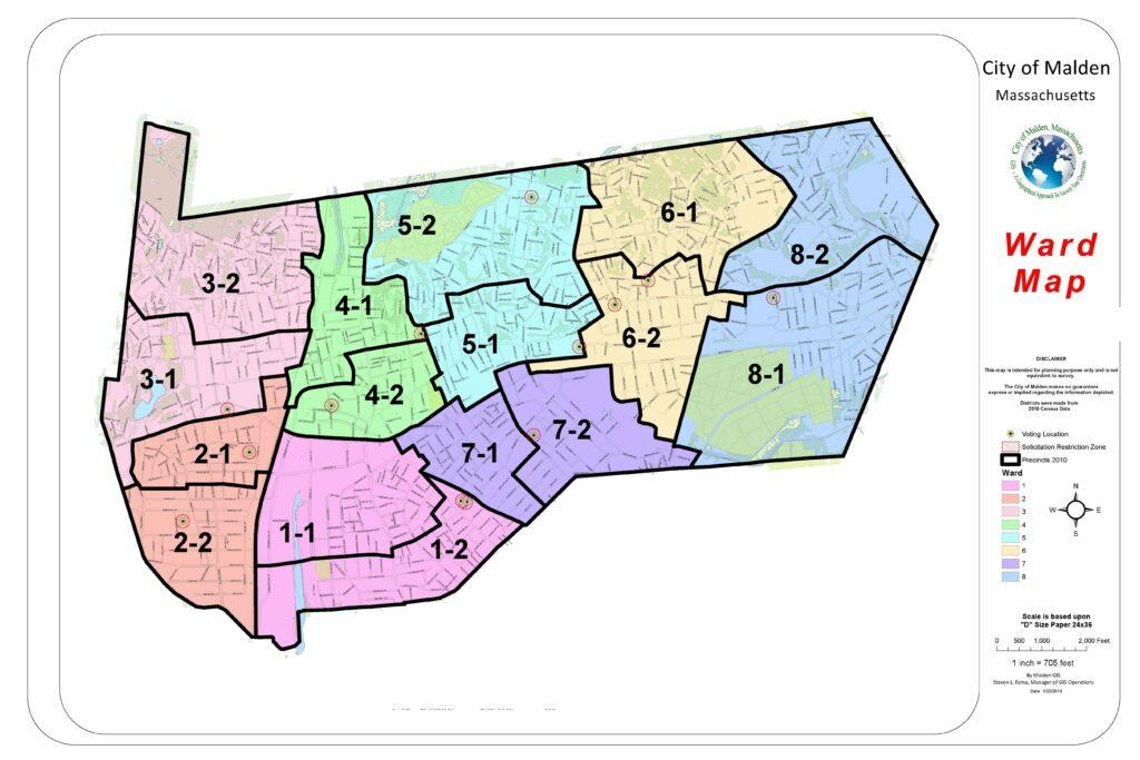 Ward Map Malden MA